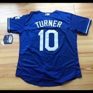 13aa1b656c4 ... Los Angeles Dodgers  10 Justin Turner blue jersey ...